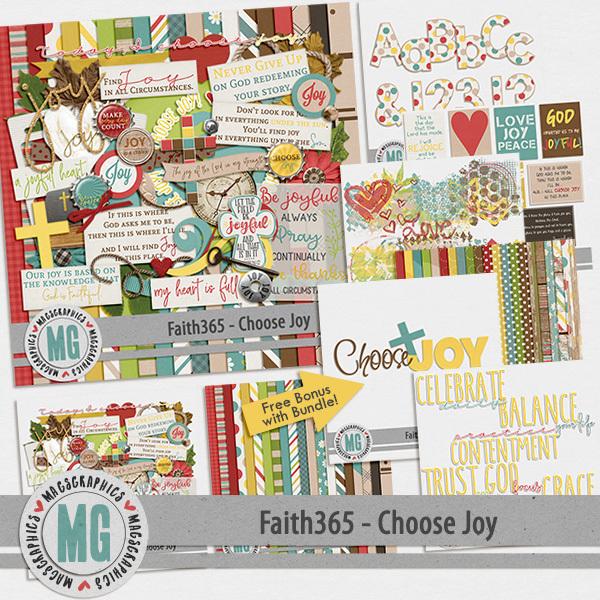 Faith365 Choose Joy Bundle Digital Art - Digital Scrapbooking Kits