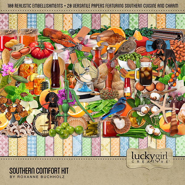 Southern Comfort Kit Digital Art - Digital Scrapbooking Kits