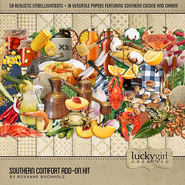 Southern Comfort Add-On Kit Digital Art - Digital Scrapbooking Kits