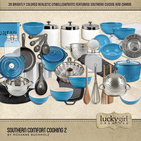 Southern Comfort Cooking 2 Digital Art - Digital Scrapbooking Kits