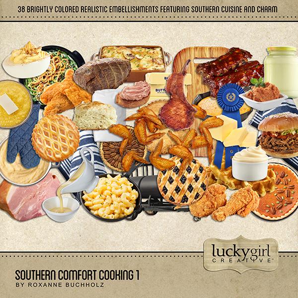 Southern Comfort Cooking 1 Digital Art - Digital Scrapbooking Kits