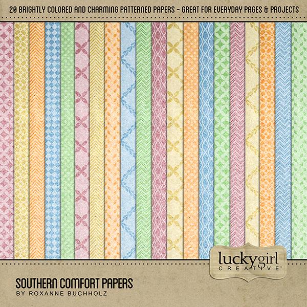 Southern Comfort Papers Digital Art - Digital Scrapbooking Kits