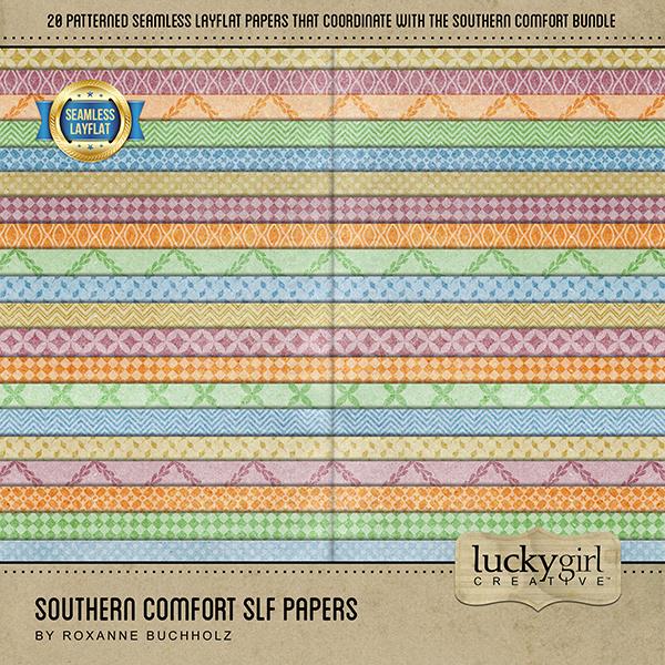 Southern Comfort SLF Papers Digital Art - Digital Scrapbooking Kits