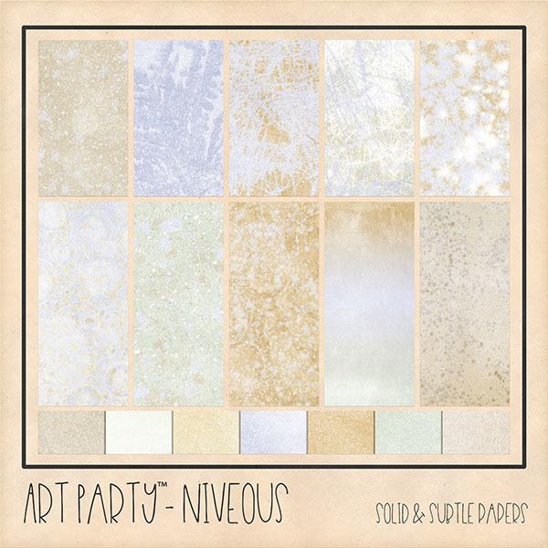 Niveous Solid & Subtle Papers Digital Art - Digital Scrapbooking Kits
