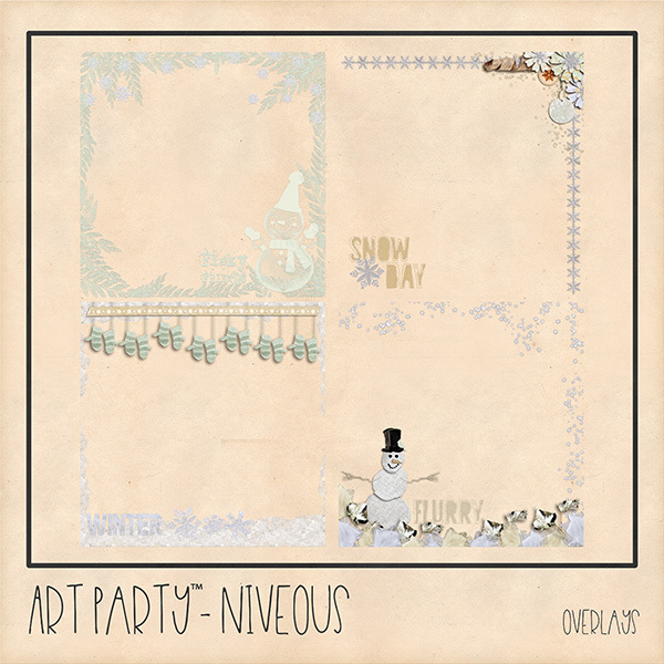 Niveous Overlays Digital Art - Digital Scrapbooking Kits