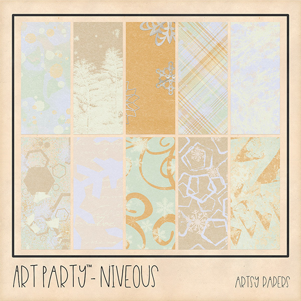 Niveous Artsy Papers Digital Art - Digital Scrapbooking Kits