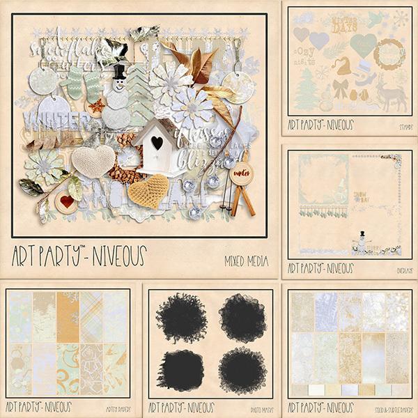 Niveous Complete Collection Digital Art - Digital Scrapbooking Kits