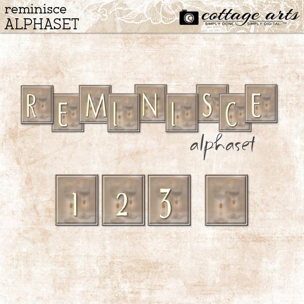 Reminisce AlphaSet Digital Art - Digital Scrapbooking Kits