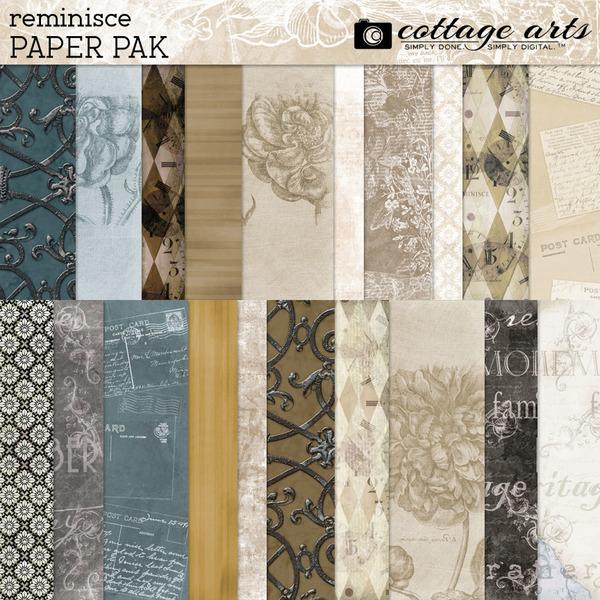 Reminisce Paper Pak Digital Art - Digital Scrapbooking Kits