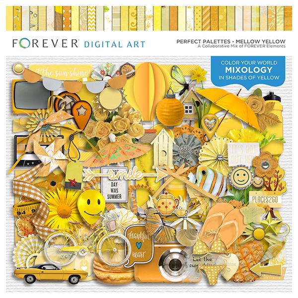 Perfect Palettes - Mellow Yellow Digital Art - Digital Scrapbooking Kits