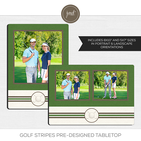 Golf Stripes Pre-Designed Tabletop Digital Art - Digital Scrapbooking Kits