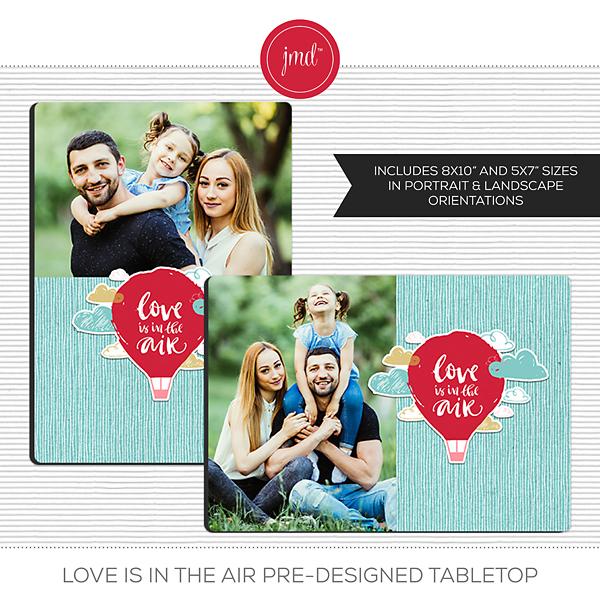 Love is in the Air Pre-Designed Tabletop Digital Art - Digital Scrapbooking Kits