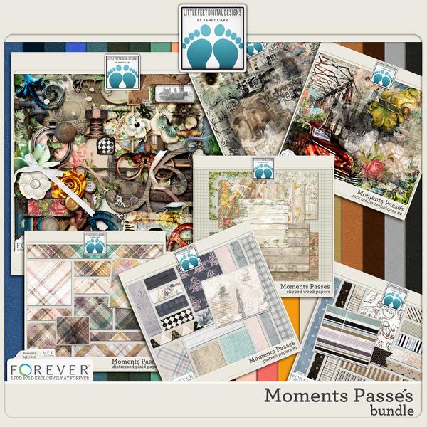 Moments Passes Bundle Digital Art - Digital Scrapbooking Kits