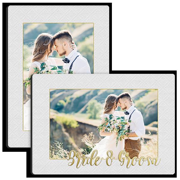 Golden Bride & Groom Tabletop Tabletop Panel