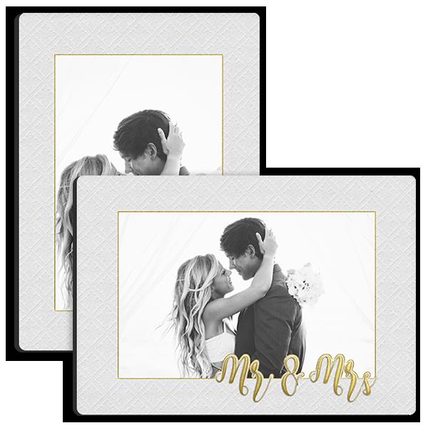 Golden Mr & Mrs Tabletop Tabletop Panel