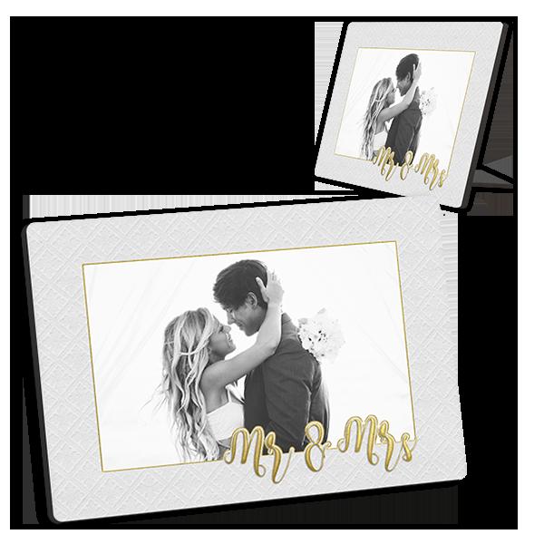 Golden Mr & Mrs Tabletop