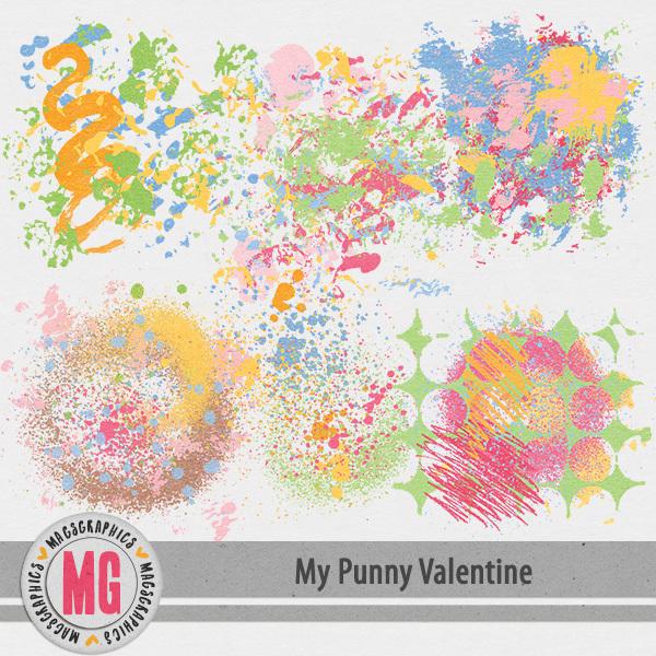 My Punny Valentine Hodge Podge Digital Art - Digital Scrapbooking Kits