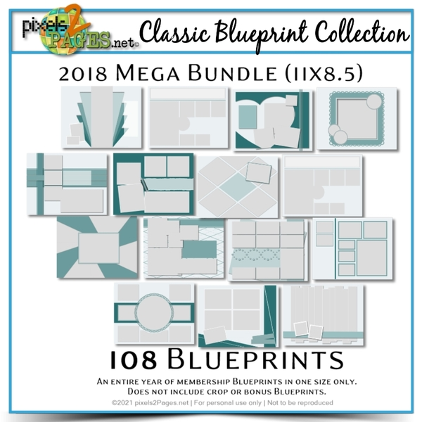 Classic Blueprint Collection 2018 - Mega Bundle (11x8.5)