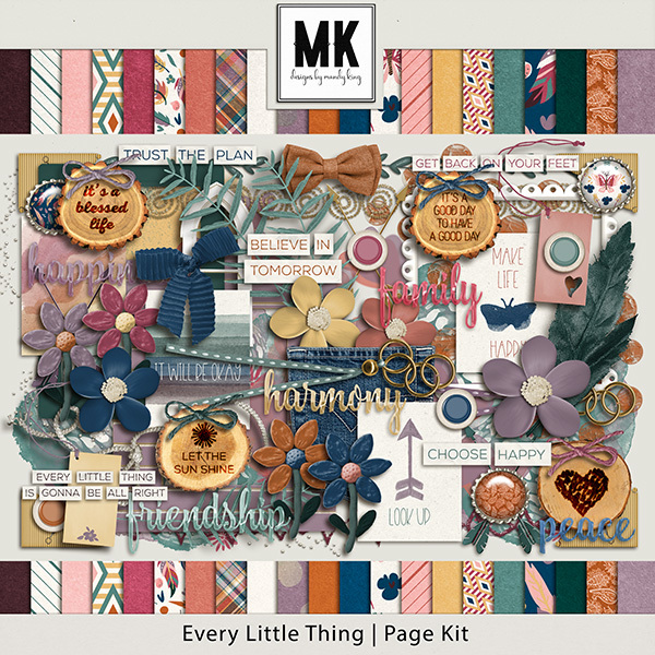 Every Little Thing Collection Page Kit Digital Art - Digital Scrapbooking Kits