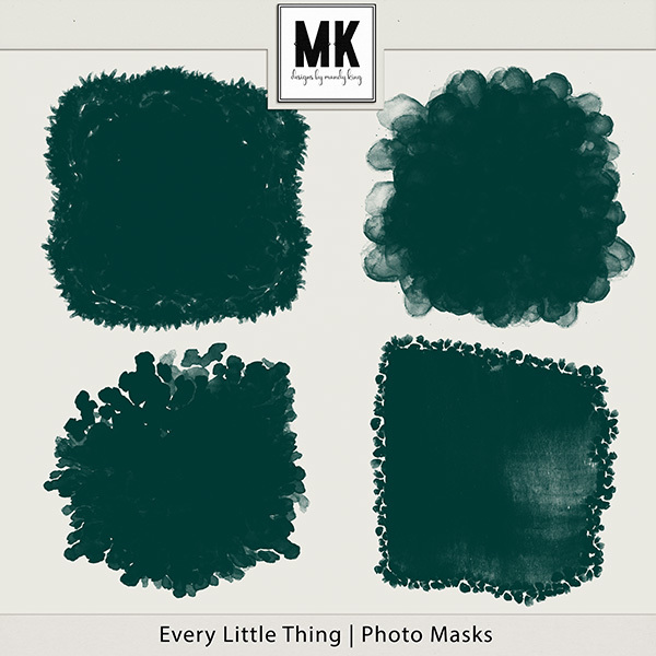 Every Little Thing Collection Photo Masks Digital Art - Digital Scrapbooking Kits
