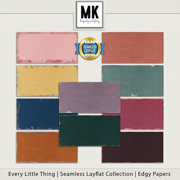 Every Little Thing Seamless Layflat Edgy Papers Digital Art - Digital Scrapbooking Kits