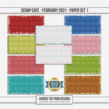 Scrap Cafe - February 2021 - SLF Paper Set 1