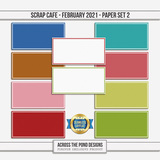 Scrap Cafe - February 2021 - SLF Paper Set 2