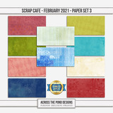 Scrap Cafe - February 2021 - SLF Paper Set 3