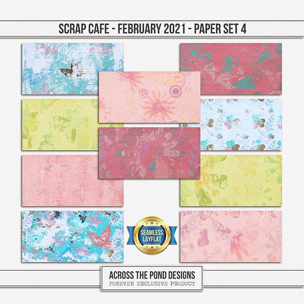 Scrap Cafe - February 2021 - SLF Paper Set 4