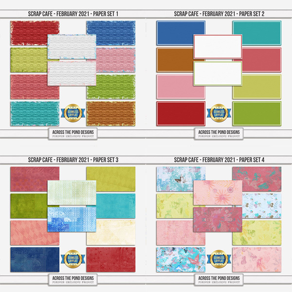 Scrap Cafe - February 2021 - SLF Paper Set Bundle