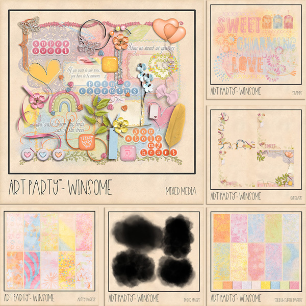 Winsome Complete Collection Digital Art - Digital Scrapbooking Kits