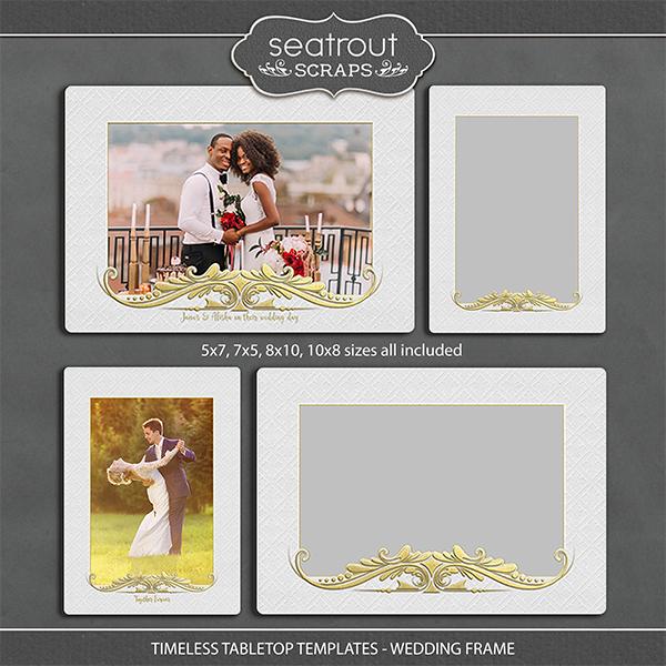 Timeless Tabletop Templates - Wedding Frame