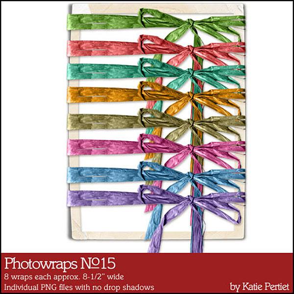 Photo Wraps 15 Digital Art - Digital Scrapbooking Kits