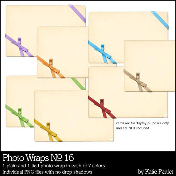 Photo Wraps 16 Digital Art - Digital Scrapbooking Kits