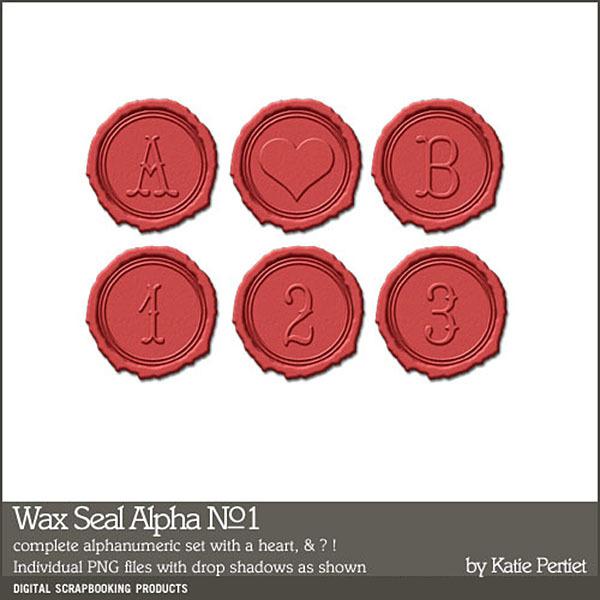 Wax Seal Alphabet 01 Digital Art - Digital Scrapbooking Kits