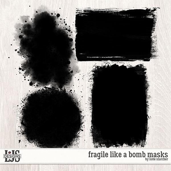 Fragile Like A Bomb Masks Digital Art - Digital Scrapbooking Kits