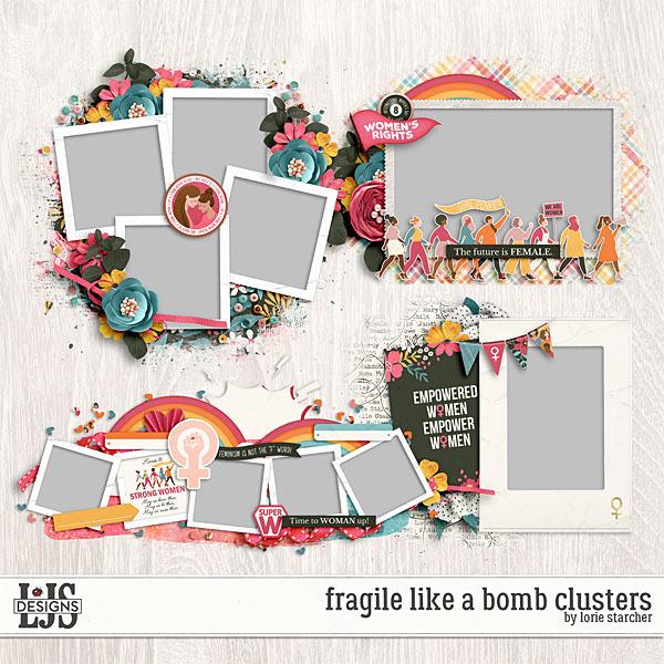 Fragile Like A Bomb Clusters Digital Art - Digital Scrapbooking Kits