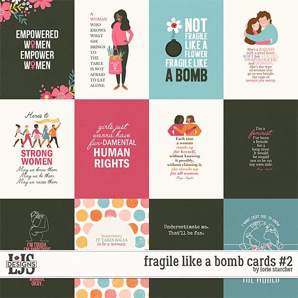 Fragile Like A Bomb Cards 2 Digital Art - Digital Scrapbooking Kits