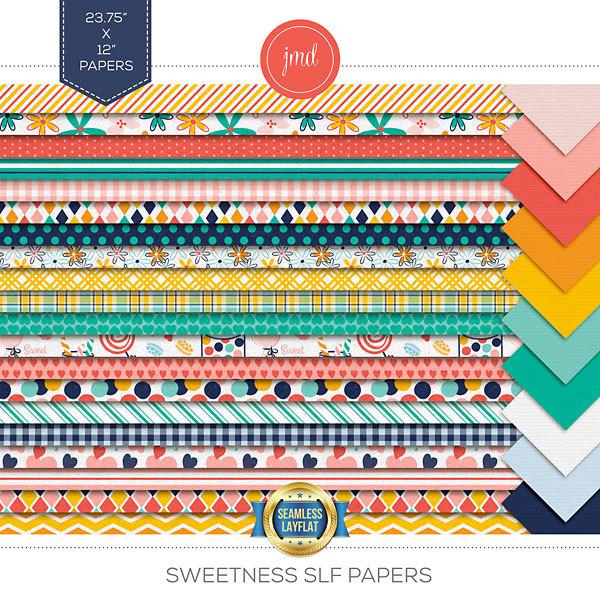 Sweetness SLF Papers Digital Art - Digital Scrapbooking Kits