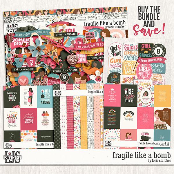 Fragile Like A Bomb Bundle Digital Art - Digital Scrapbooking Kits