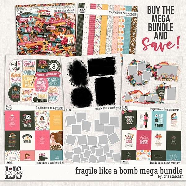 Fragile Like A Bomb Mega Bundle Digital Art - Digital Scrapbooking Kits