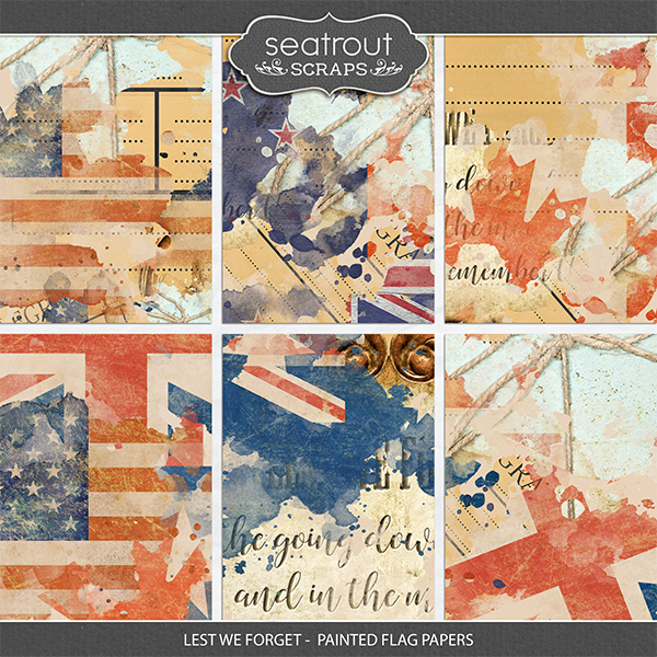 Lest We Forget - Painted Flag Papers