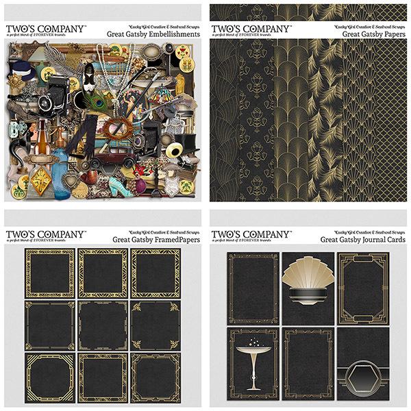 Great Gatsby Bundle Digital Art - Digital Scrapbooking Kits
