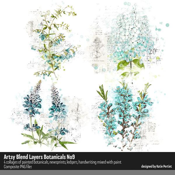 Artsy Blend Layers Botanicals 09 Digital Art - Digital Scrapbooking Kits