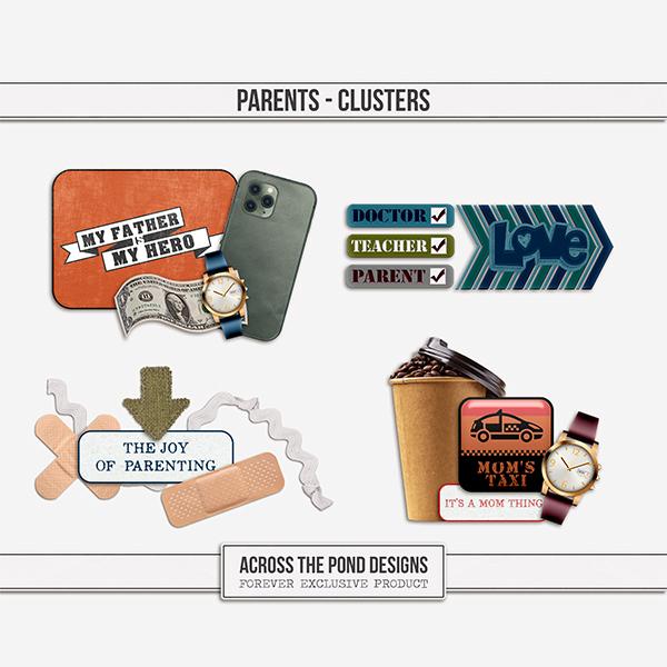 Parents - Clusters Digital Art - Digital Scrapbooking Kits
