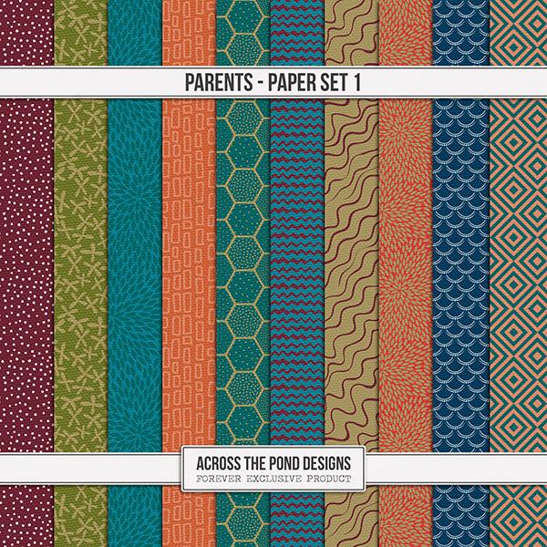 Parents - Papers 1 Digital Art - Digital Scrapbooking Kits