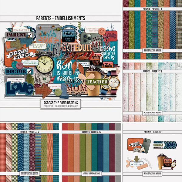 Parents - Bundle Digital Art - Digital Scrapbooking Kits