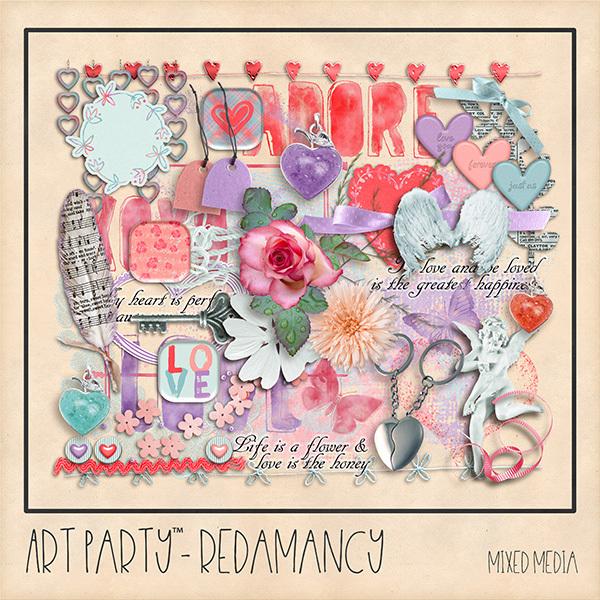 Redamancy Mixed Media Embellishments Digital Art - Digital Scrapbooking Kits