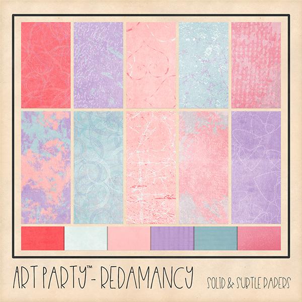 Redamancy Solid & Subtle Papers Digital Art - Digital Scrapbooking Kits