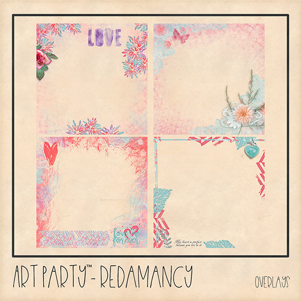 Redamancy Overlays Digital Art - Digital Scrapbooking Kits